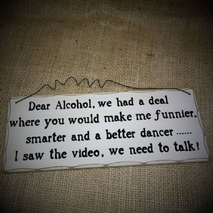 50% off Dear Alcohol...Hanging Sign
